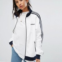 adidas Originals Track Jacket In White And Navy at asos.com