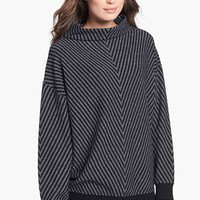 Nordstrom Collection Chevron Stitch Cashmere Funnel Neck Sweater | Nordstrom