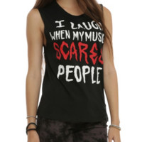 My Music Scares People Girls Muscle Top