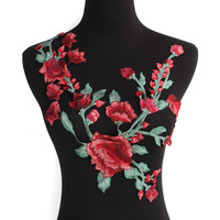 Flower Patches For Clothing Embroidery Applique Badge Neckline Lace Applique Patches Iron on Sticker For Dress Jacket Jeans
