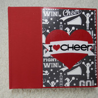 6x6 I Love Cheer Scrapbook Photo Album