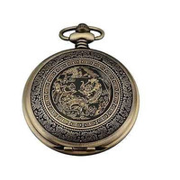 Men's Pocket Watch New Bronze Dangle Chain Pendant Father's Day Graduation