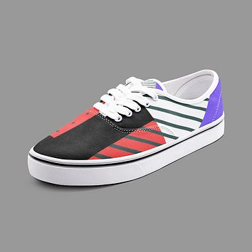 Neo Memphis Patches Stickers Unisex Canvas Shoes Fashion Low Cut Loafer Sneakers by The Photo Access
