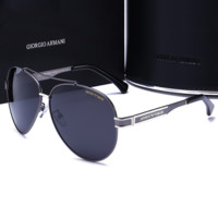 ARMANI Fashion Sunglasses Vintage Fashion Metal Frame Mirror Sun Glasses Unique Flat Sunglasses G-YJ-LHSTCYJC