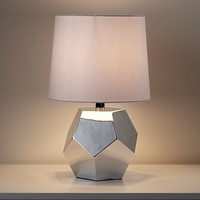 Between a Rock Lamp Base (Silver) in Table Lamps | The Land of Nod