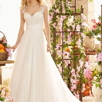 Voyage by Mori Lee 6803 Soft Net and Lace Wedding Dress