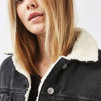 MOTO Denim Western Oversized Jacket | Topshop