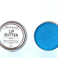blue LIP TINT. lip balm / lip cream - rain