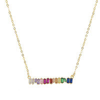 Jagged Rainbow Bar Necklace