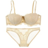 Hot Deal Cute Coffee On Sale Drinks Bra Set Lace Underwear Sexy Cup [9779881859]