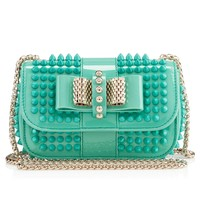 SWEETY CHARITY VERNIS/SPIKES,AQUAMAR,VERNIS,Louboutin,Sacs Femme
