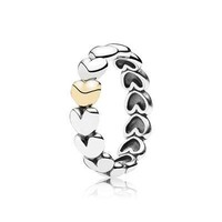 PANDORA Two-Tone My One True Love Ring - Size 4.5