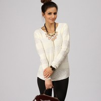 Sale-ivory Make A Wish Sequin Sweater
