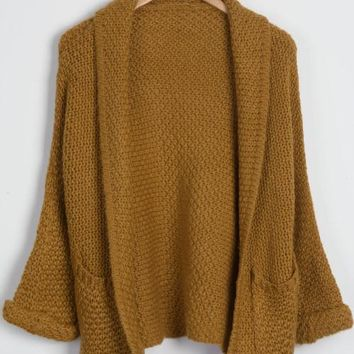 Cupshe Plain And Simple Knitting Sweater Cardigan