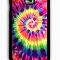Samsung Galaxy S5 Case - Rubber (TPU) Cover with Artsy Abstract Hipster Tie Dye Rubber Case Design