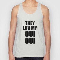 Oui Oui Series Unisex Tank Top by Raunchy Ass Tees