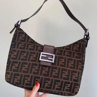 FENDI Hot Popular Women Shopping Handbag Tote Leather Shoulder Bag Crossbody Satchel