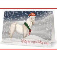 Magical Horse Christmas Card with Original Artwork
