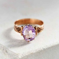 Vintage Victorian Rose Gold Amethyst Ring- Gold One