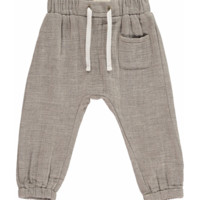 Beige Cotton Tie-Cord Pants by Me & Henry