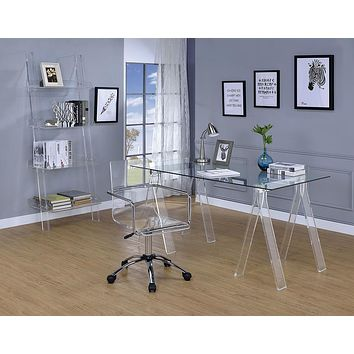 G801436 - Amaturo Home Office - Clear And Chrome