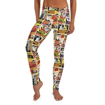 Reefer Madness Hysteria Poster Leggings