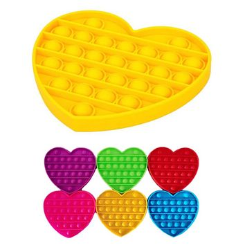 Crazy Fun Solid Heart Bubble Popper Toy