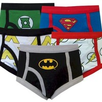 Justice League Classic Logos 5-Pack Boys Briefs for boys