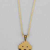 Han Cholo Space Invader Necklace - Gold One