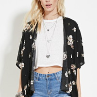 Floral Open-Front Cardigan | Forever 21 - 2000153454