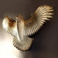Owl Sculpture hand carved by Jason Tennant Silent by jasontennant