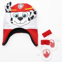 Paw Patrol Marshall Hat & Mittens Set - Toddler Boy, Size: 2T-4T (Red)