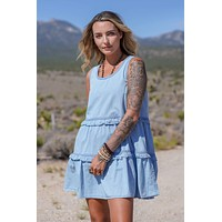 Gracie Tiered Ruffle Dress - Denim