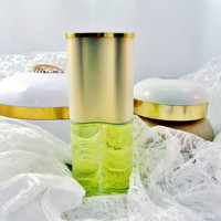 Vintage White Linen Parfum Perfume Spray 1.75 Oz  Body Creme And Powder Canister Vanity Set Collectible Gift Item 1454