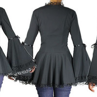 womens victorian gothic goth jackets coats tops