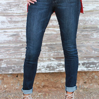 The Flying Monkey Skinny Jeans With Faux Leather Waistband ~ Denim ~ Sizes 0-11
