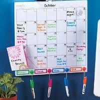 "Board Dudes 14"" x 14"" Color Coded Magnetic Dry Erase Calendar and Bulletin Board (CYK31)"