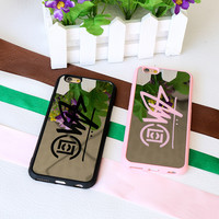 Stylish Iphone 6/6s On Sale Hot Deal Cute Alphabet Iphone Mirror Couple Phone Case [9077381444]