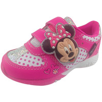 Disney Girl's White & Pink Minnie Mouse Sneakers