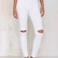 Glamorous Cut 'n Run Skinnies - White
