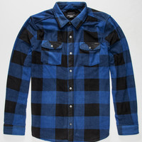 O'neill Superfleece Glacier Check Mens Flannel Shirt Navy  In Sizes