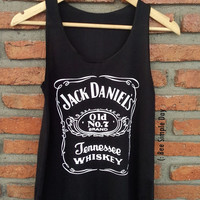BLACK Jack Daniels Tank Top Hipster tank top Tank top women Fitness top Summer Cloth Gift Summer fashion tshirt Vintage tank tops for woman