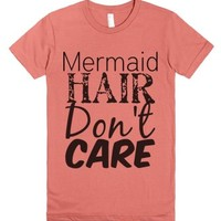 Mermaid Hair Don't Care-Female Pomegranate T-Shirt