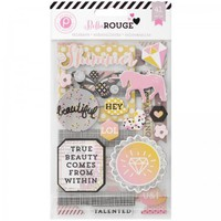 Pink Paislee Bella Rouge Chipboard Stickers 369166