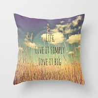 Live Simply Throw Pillow by Ally Coxon