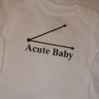 Acute Baby Onesuit. Baby Geek design. Can Be Customized By Size.