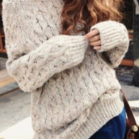 Earthy SWEATER Neutral Mystery Vintage BOHEMIAN gyspy comfortable sweater Mens or Womens