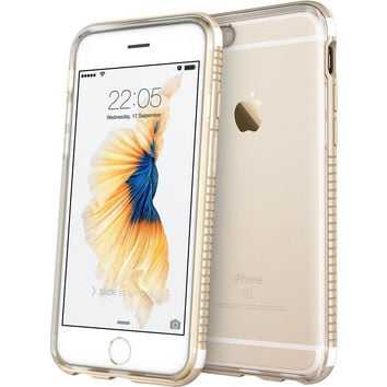 """ESR 2 in 1 Bumper Case with Clear Soft TPU Cover + Aluminum Alloy Frame for iPhone 6S/6 4.7"""""""