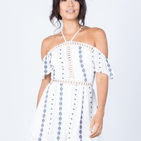 Looped Together Crochet Romper