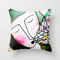 Truth is more colorful than fiction Throw Pillow by Sreetama Ray